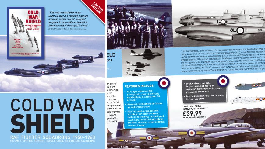 Cold War Shield by Roger Lindsay book flyer design