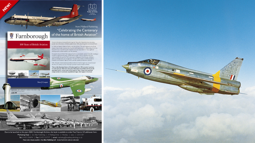 Farnborough - 100 years of test flying by Peter J. Cooper marketing material